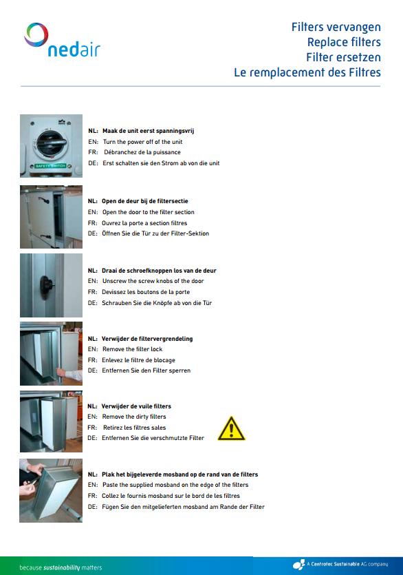 Voorblad technische gegevens Ned Air filters vervangen