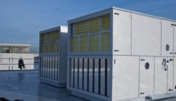 Ned Air NKD maatwerk luchtbehandelingskasten op dak
