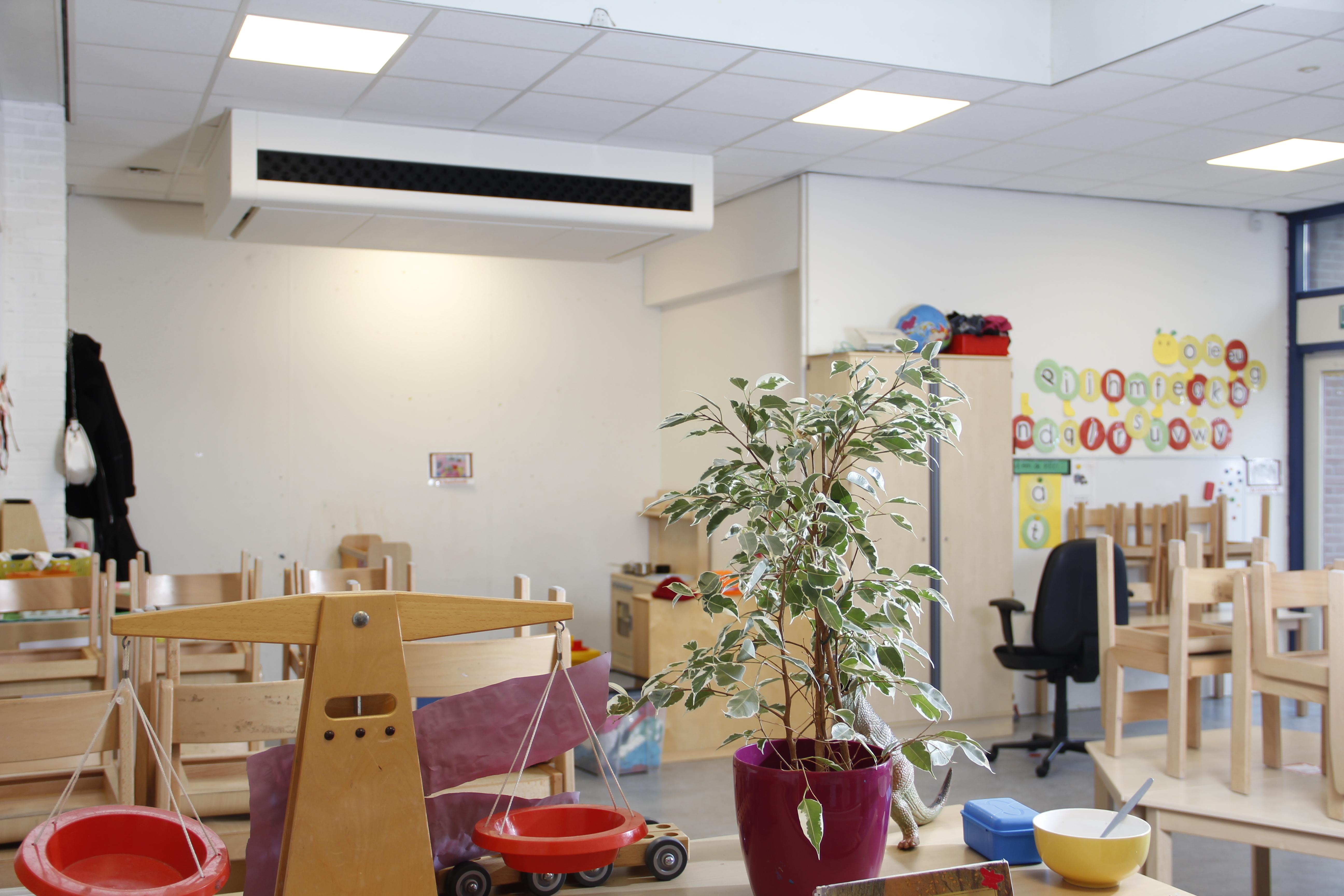 Ned Air schoolventilatiesysteem EduComfort 950 in Klaslokaal