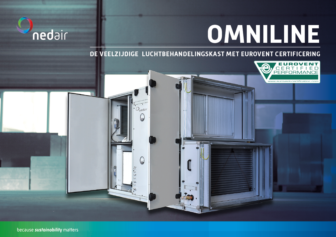 Brochure Ned Air OmniLine luchtbehandelingskast met Eurovent Certificaat
