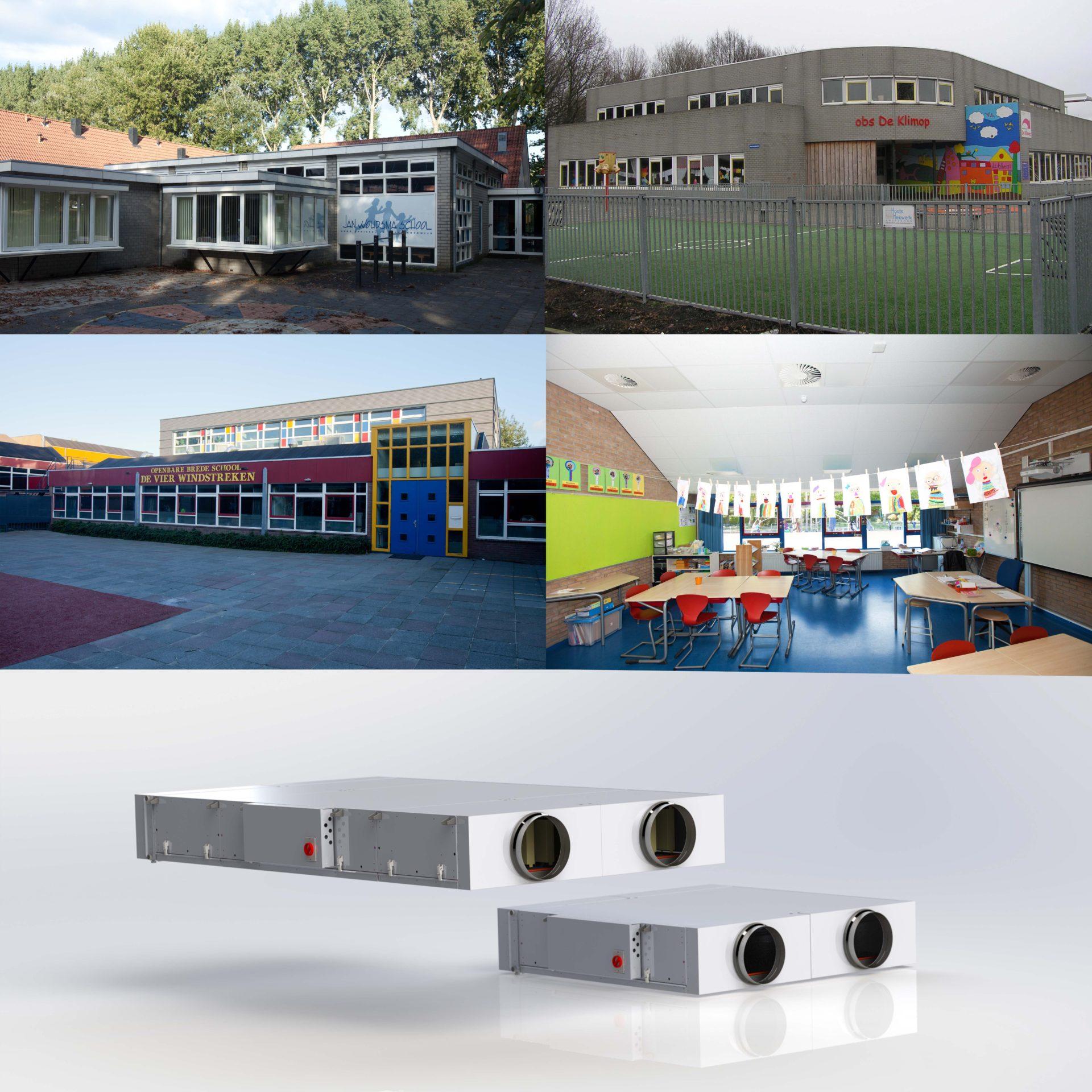Collage Ned Air Gezonde Scholen Amsterdam Schoolventilatiesystemen