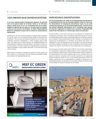 Publicatie Installatie & Bouw - Ned Air MXF dakventilatoren
