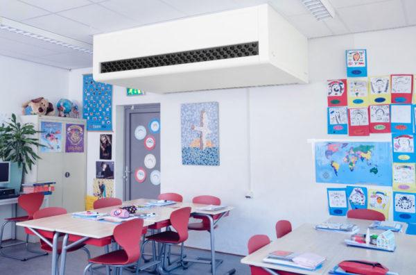 Schoolventilatie-unit EduComfort 950 opbouw
