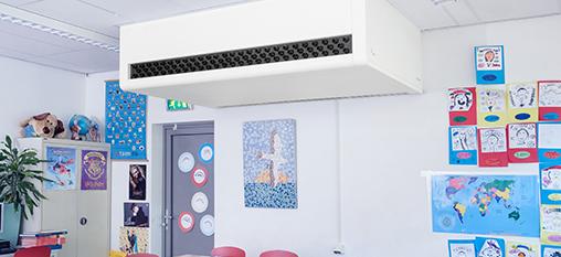 CO2 gestuurde HR ventilatie-unit met warmteterugwinning